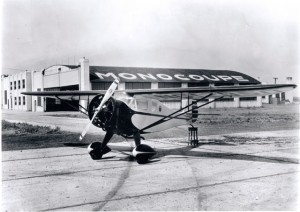 NC12350 at the Monocoupe factory