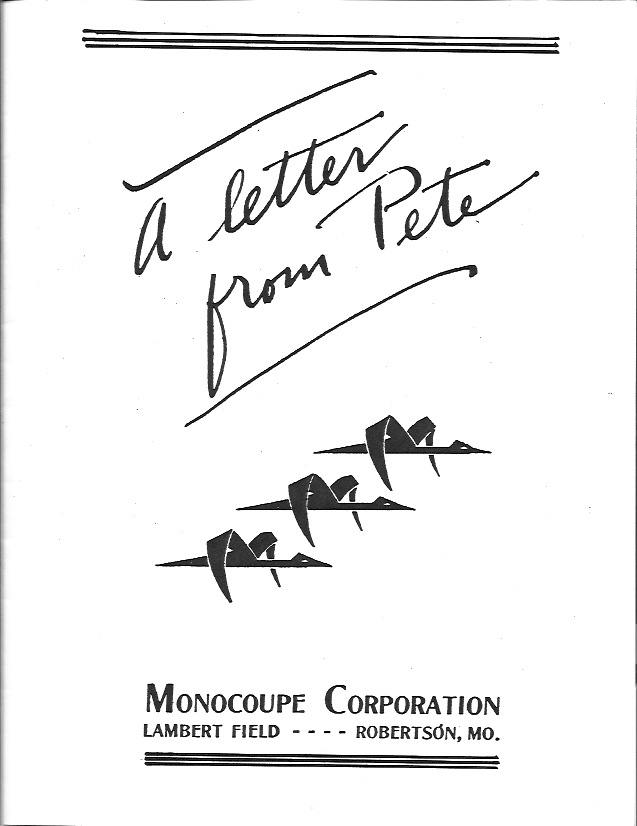 A Letter From Pete Cover Page